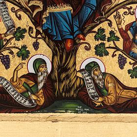 Icona Grecia serigrafia Albero di Jesse 31x24 s3