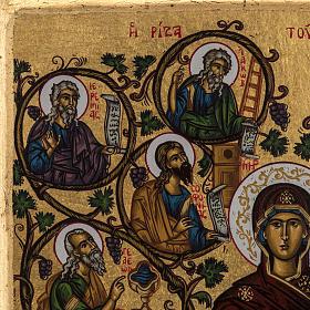 Icona Grecia serigrafia Albero di Jesse 31x24 s4