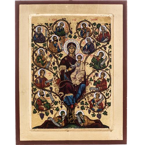 Icona Grecia serigrafia Albero di Jesse 31x24 1
