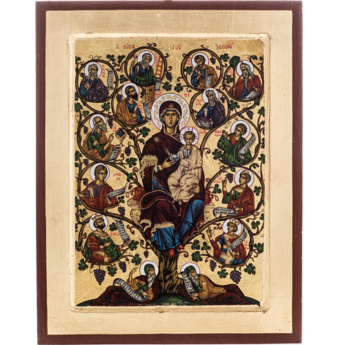 Tree of Jesse icon, Greece, silkscreen printing 31x24cm 1