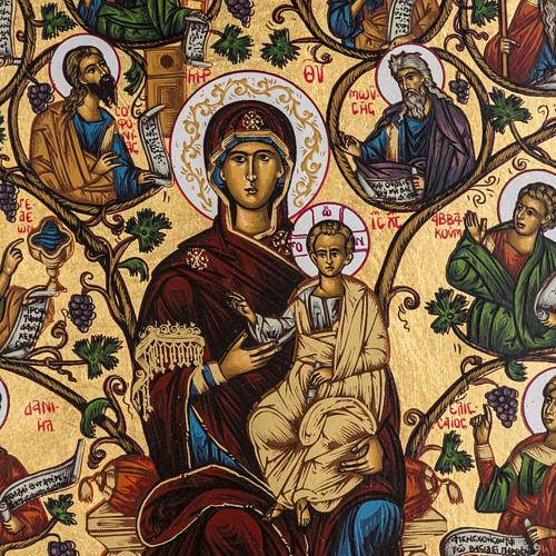 Tree of Jesse icon, Greece, silkscreen printing 31x24cm 2