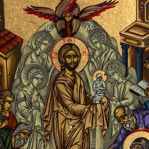 Icona Grecia serigrafia Dormizione di Maria 31x24 3