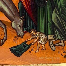 Icona Ingresso a Gerusalemme Grecia serigrafia 31x24 s4