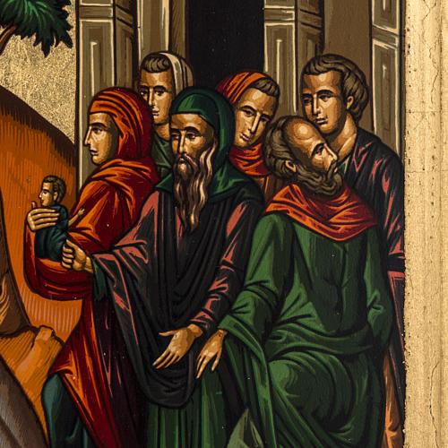 Icona Ingresso a Gerusalemme Grecia serigrafia 31x24 3