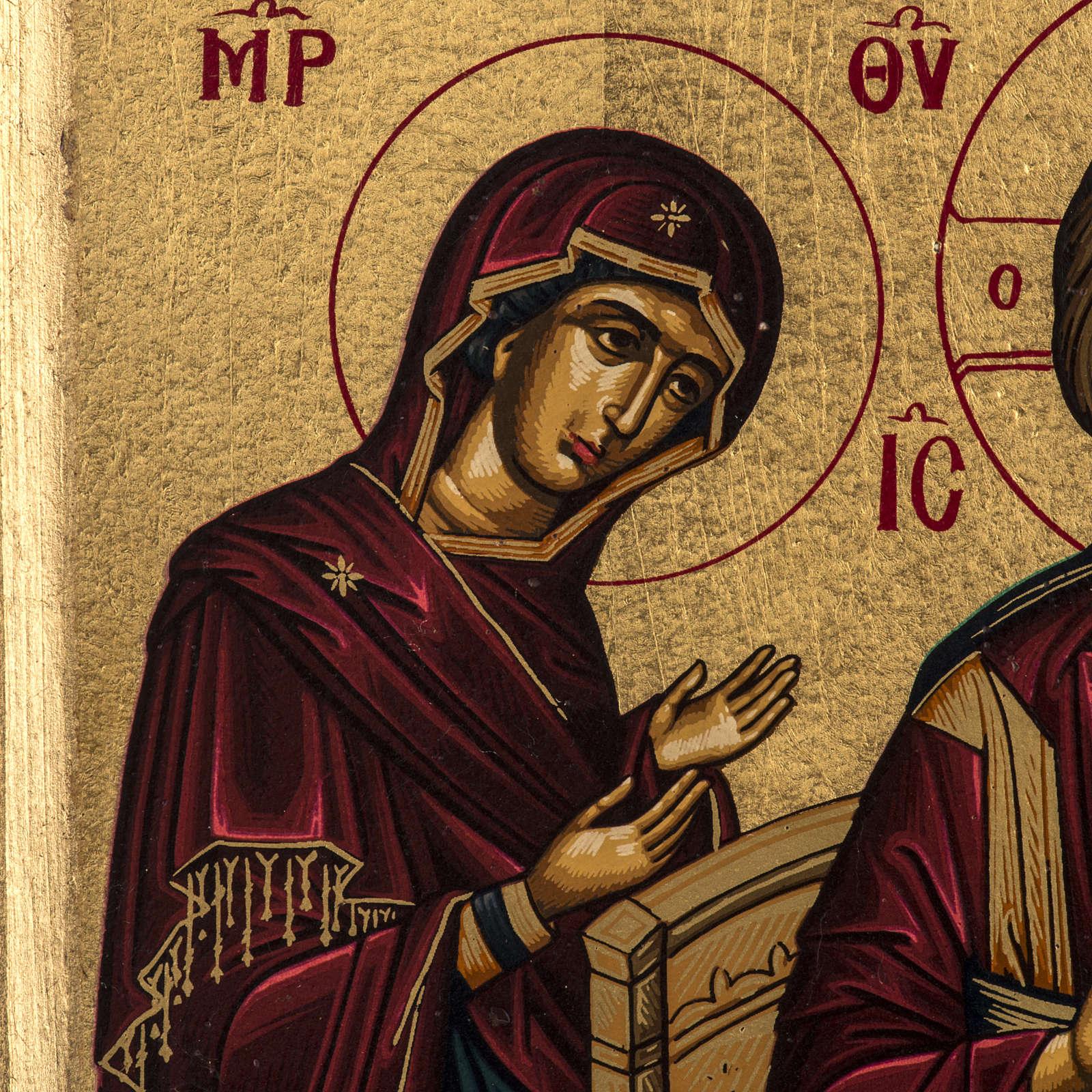 Icona Deesis serigrafia Grecia 31x24 4