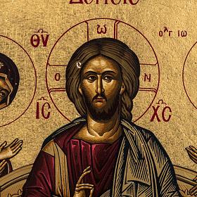 Icona Deesis serigrafia Grecia 31x24 s2