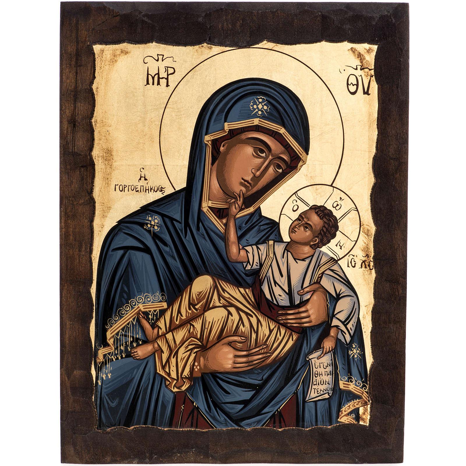 Virgin Mary Eleusa icon, Greece, silkscreen printing 4