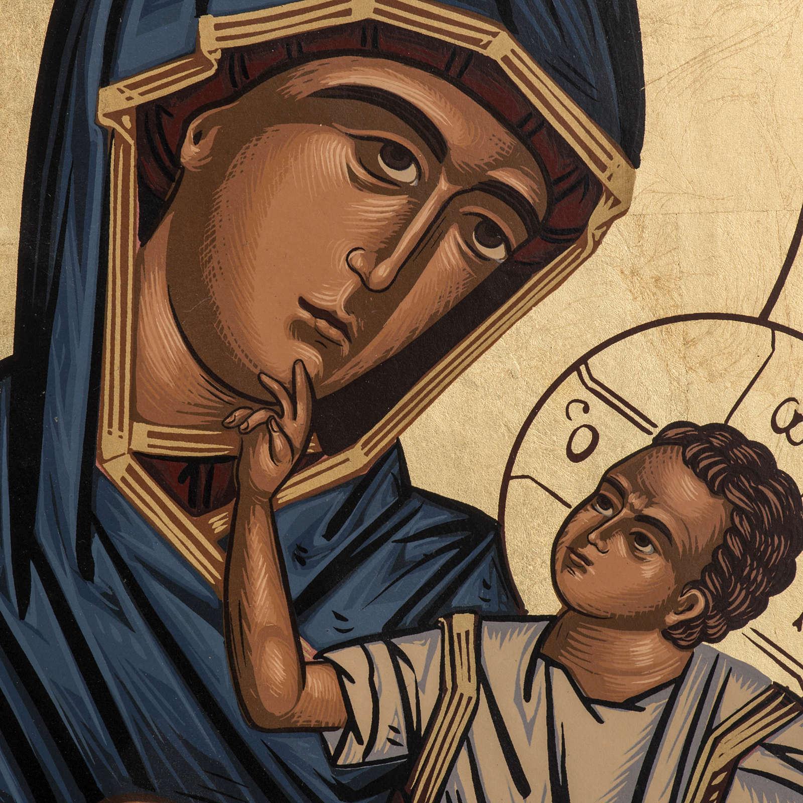 Icône Mère de Dieu Éléousa sérigraphie Grèce 4