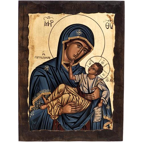 Virgin Mary Eleusa icon, Greece, silkscreen printing 1