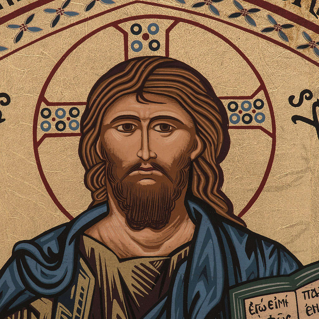 Icona Cristo di Morreale serigrafata Grecia 16x22 cm 4