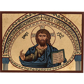 Icon Christ of Morreale, Greece, silkscreen printing 16x22cm s1