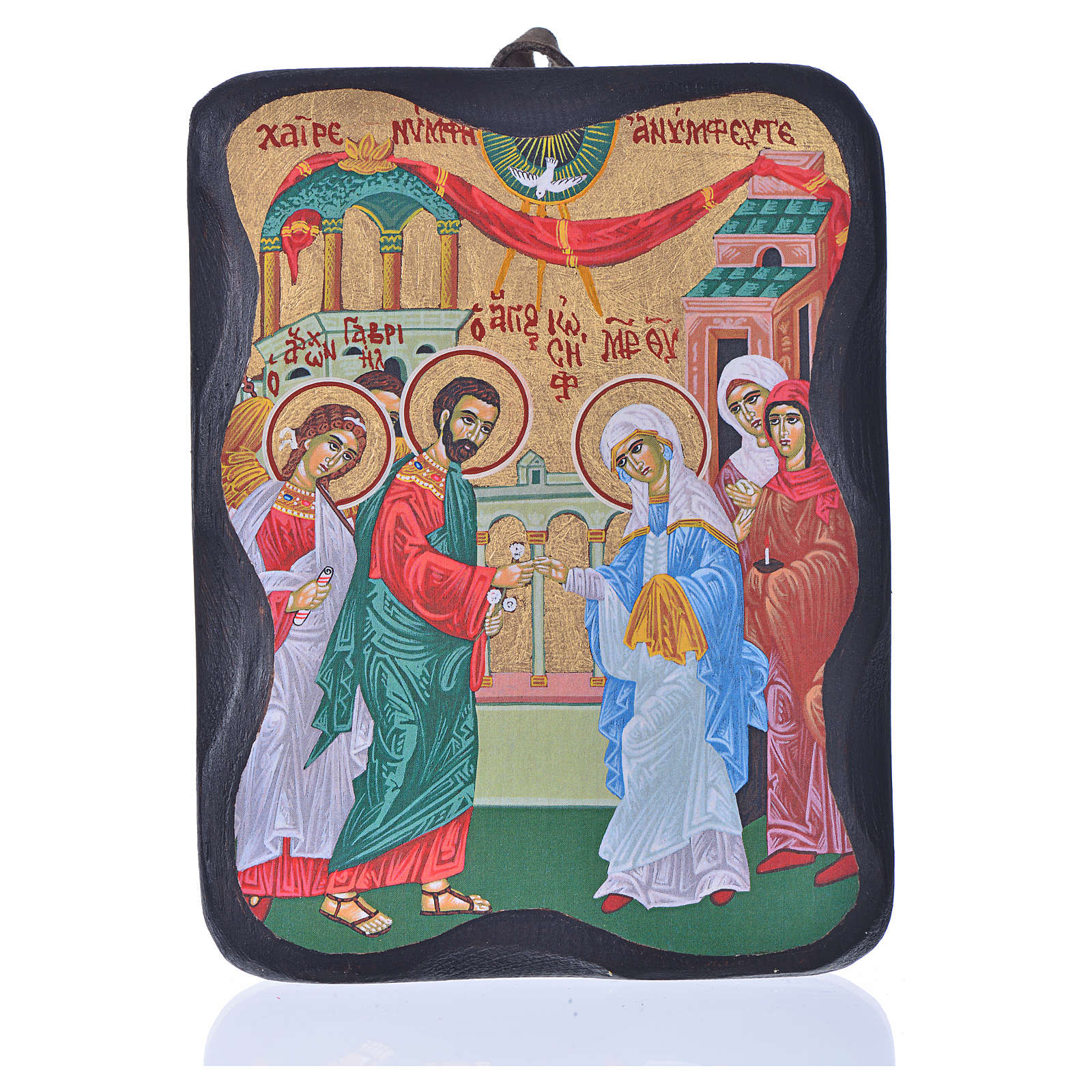 Joseph and Mary's wedding icon, 13x11cm, screenprinted in Greece 4