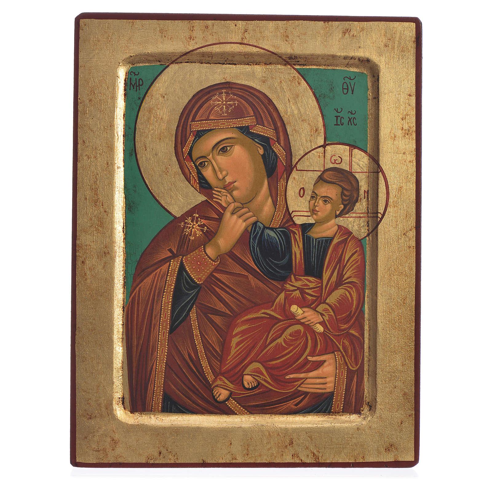 Icona Madre di Dio del Conforto serigrafata Grecia 19x25 4