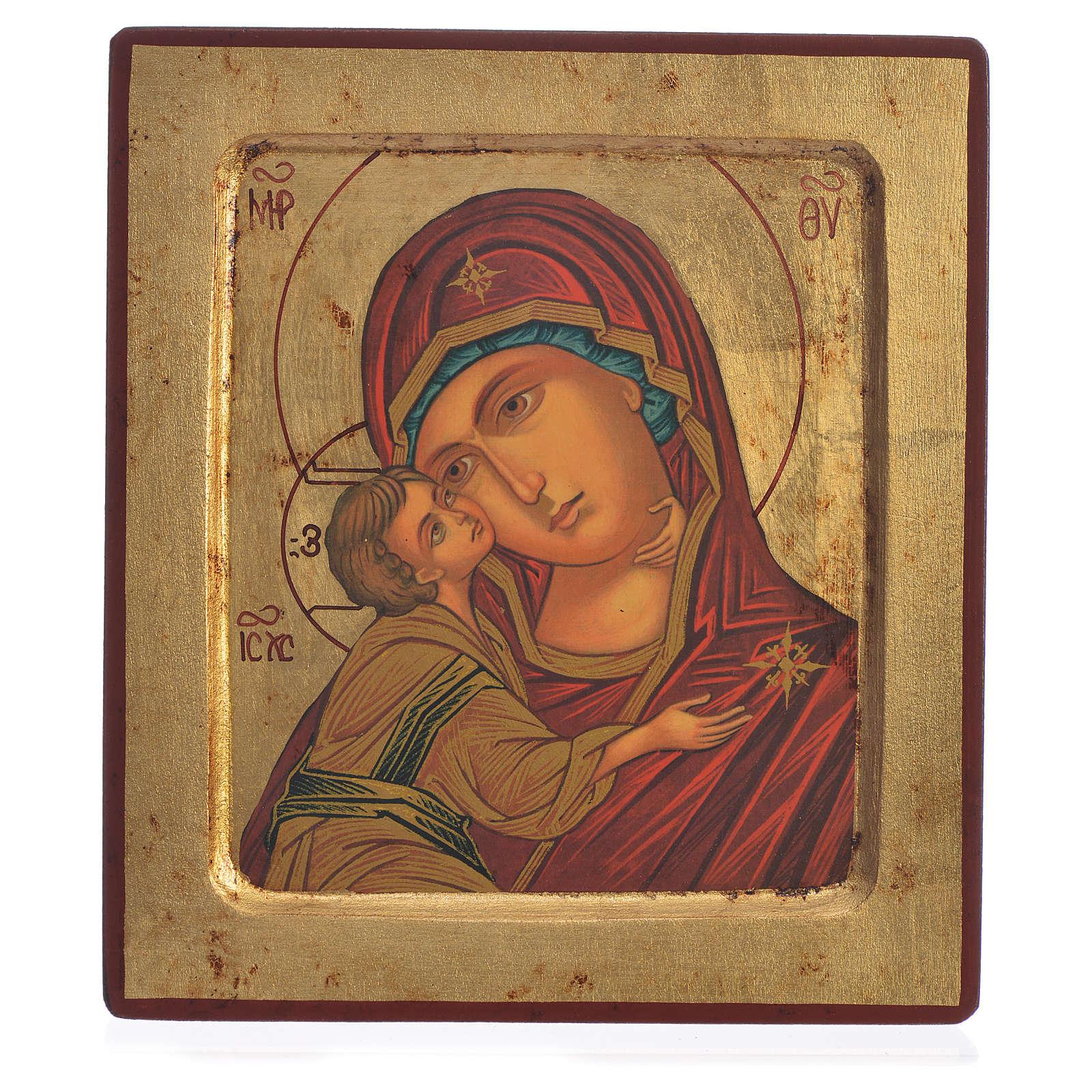 Icône Vierge de Vladimir sérigraphie 18x20 cm 4