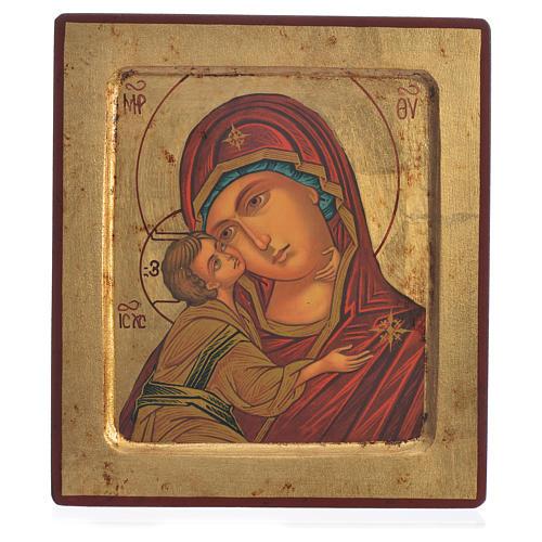 Icône Vierge de Vladimir sérigraphie 18x20 cm 1