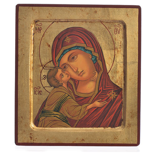 Our Lady of Vladimir, serigraphy Icon 18x20cm 1