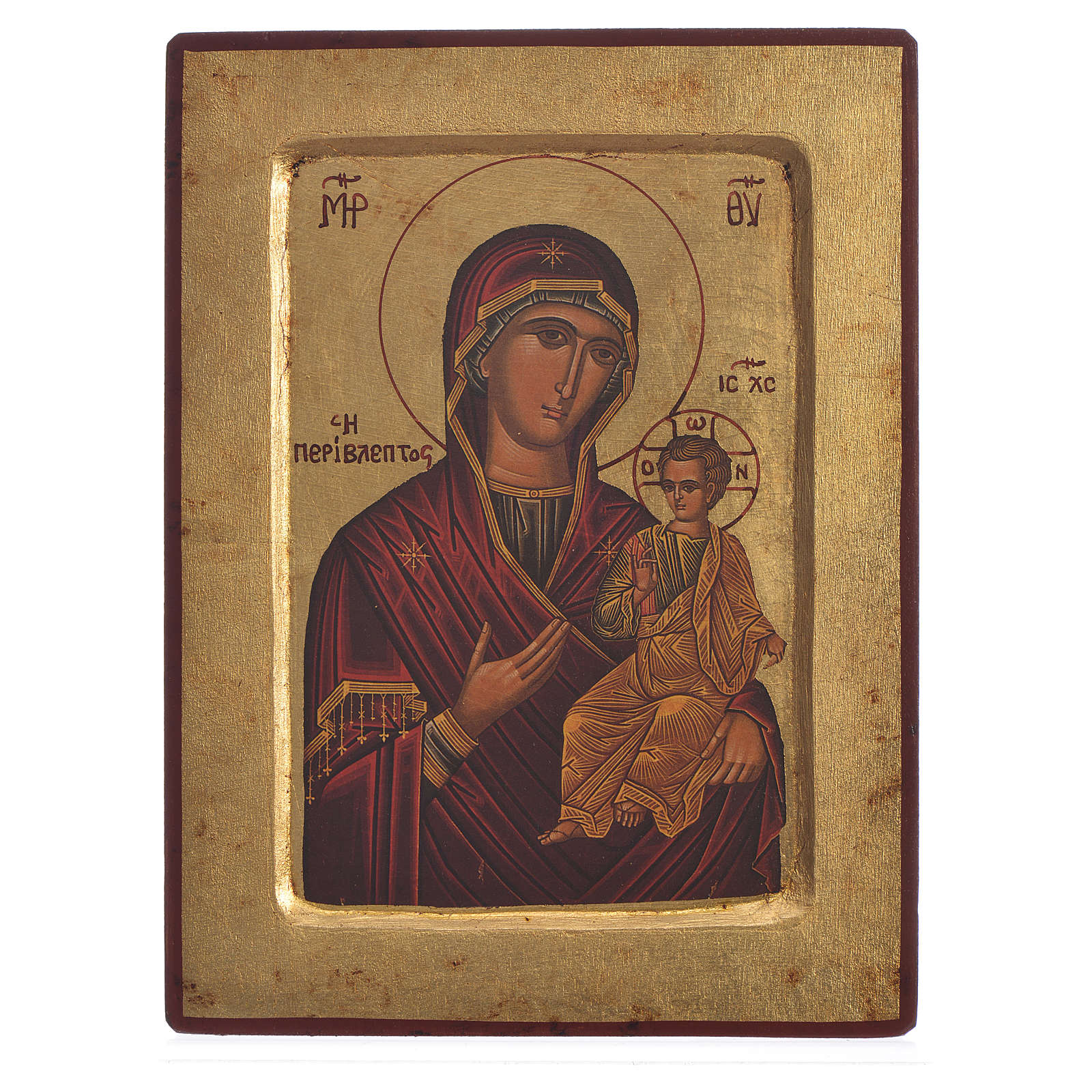 Our Lady Odigitria, serigraphy carved Icon 4