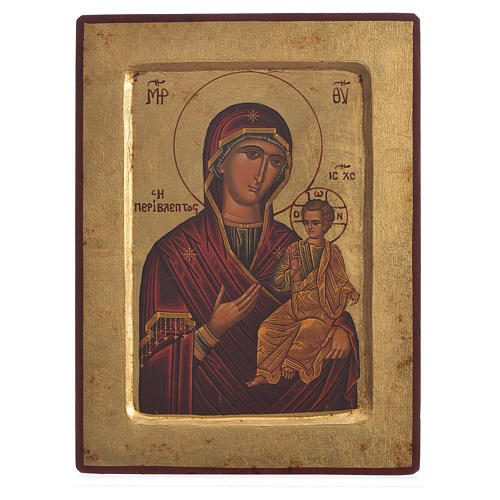 Our Lady Odigitria, serigraphy carved Icon 1