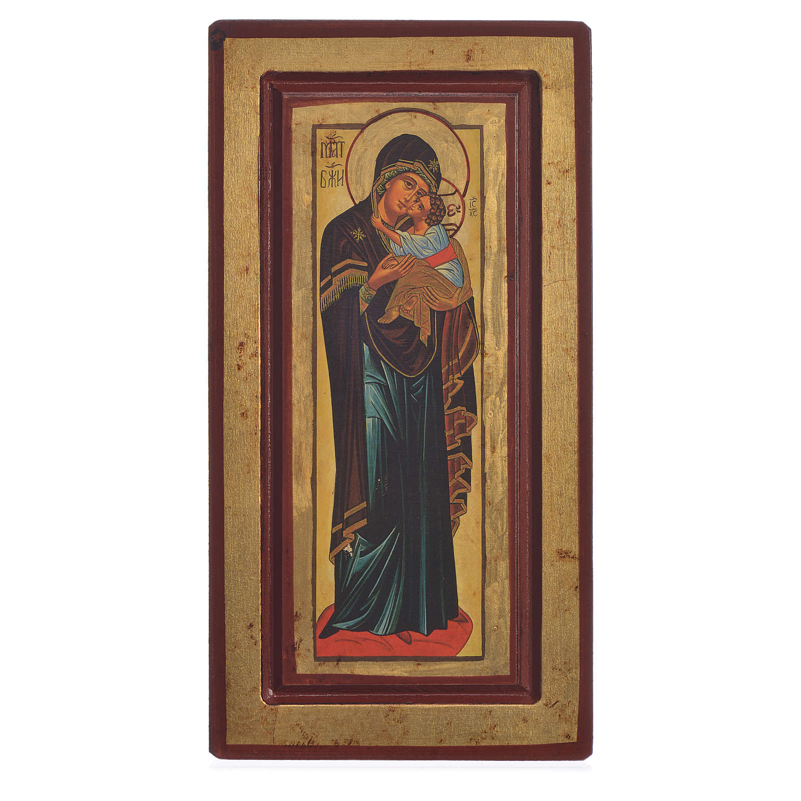 Icon of Our Lady of Decani, Greek Serigraphy 13x24cm 4