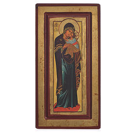 Icon of Our Lady of Decani, Greek Serigraphy 13x24cm s1