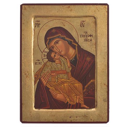Icona serigrafata greca Madonna della Tenerezza 1