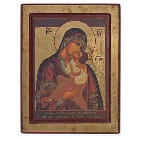 Icona Greca serigrafata Madonna di Sofronov 22x25 s1