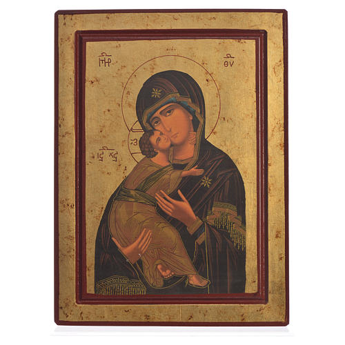 Our Lady of Vladimir, Greek serigraphy Icon 1