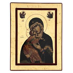 Icono serigrafado Grecia Virgen de Vladimir s3