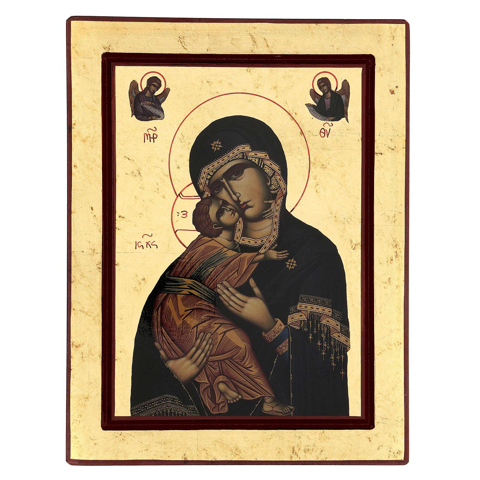 Icona serigrafata Grecia Madonna di Vladimir 4