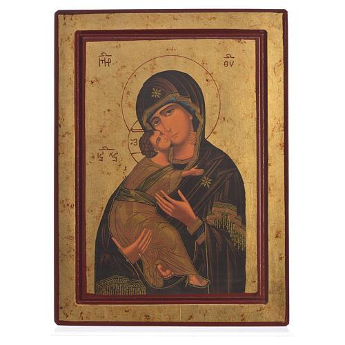 Icona serigrafata Grecia Madonna di Vladimir 1