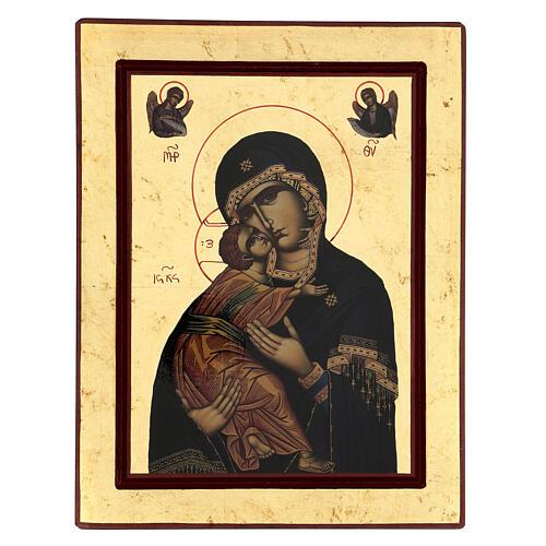 Icona serigrafata Grecia Madonna di Vladimir 3