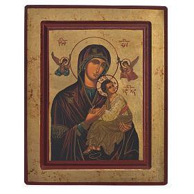 Icono Griego serigrafado Virgen del Perpetuo Socorro 22x25 s1