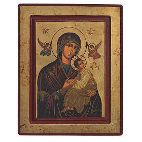 Our Lady of Perpetual Help, Greek serigraphy Icon 22x25cm s1