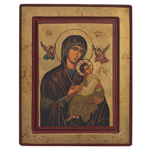 Our Lady of Perpetual Help, Greek serigraphy Icon 22x25cm 1