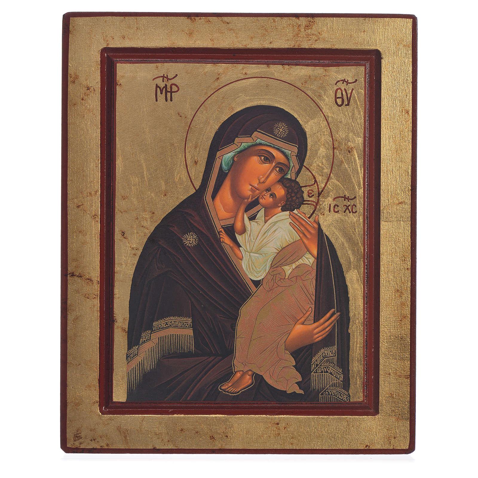 Ícone grego serigrafado Mãe de Deus de Yaroslav 4