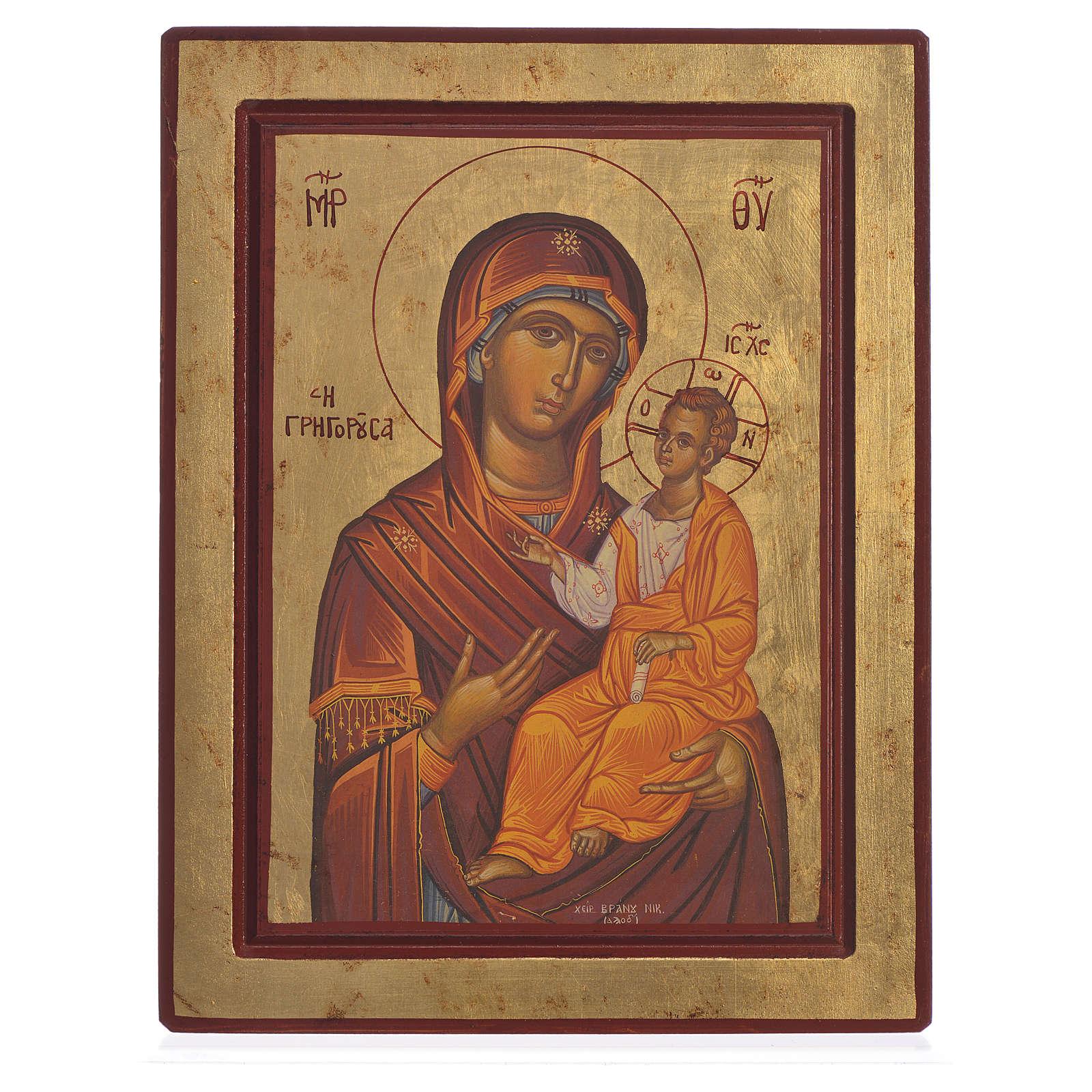 Icône sérigraphiée Vierge Hodigitria avec Enfant 4