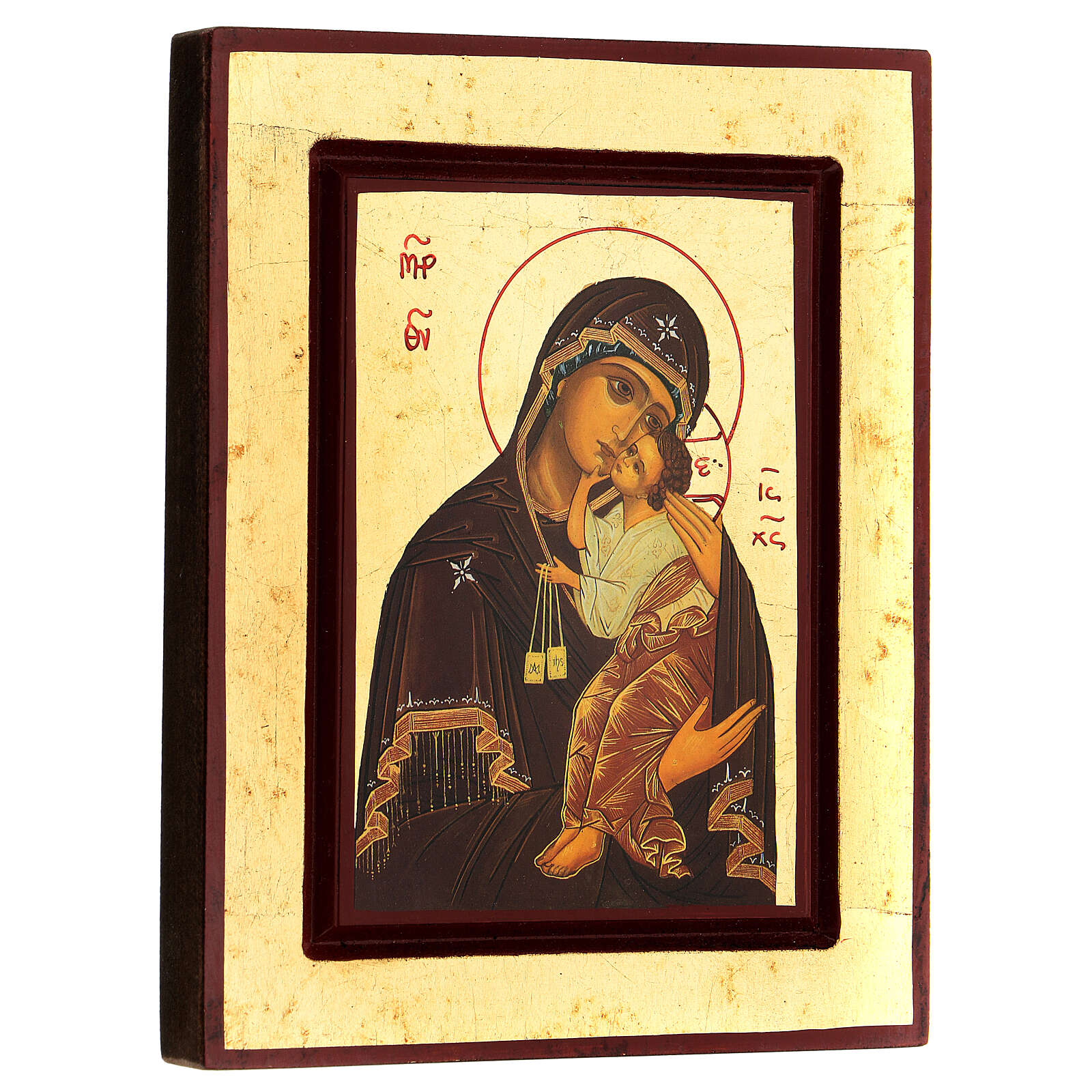 Greek Serigraph icon, Our Lady of Mount Carmel 4