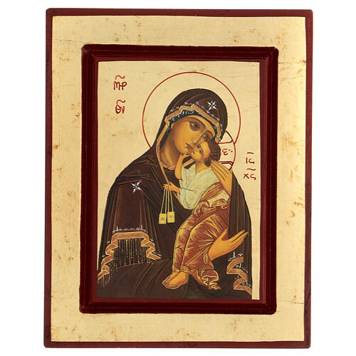 Greek Serigraph icon, Our Lady of Mount Carmel 1