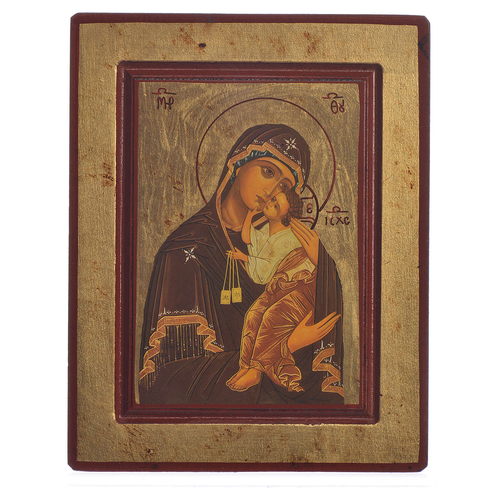 Icône sérigraphiée Grèce Notre-Dame du Carmel 4