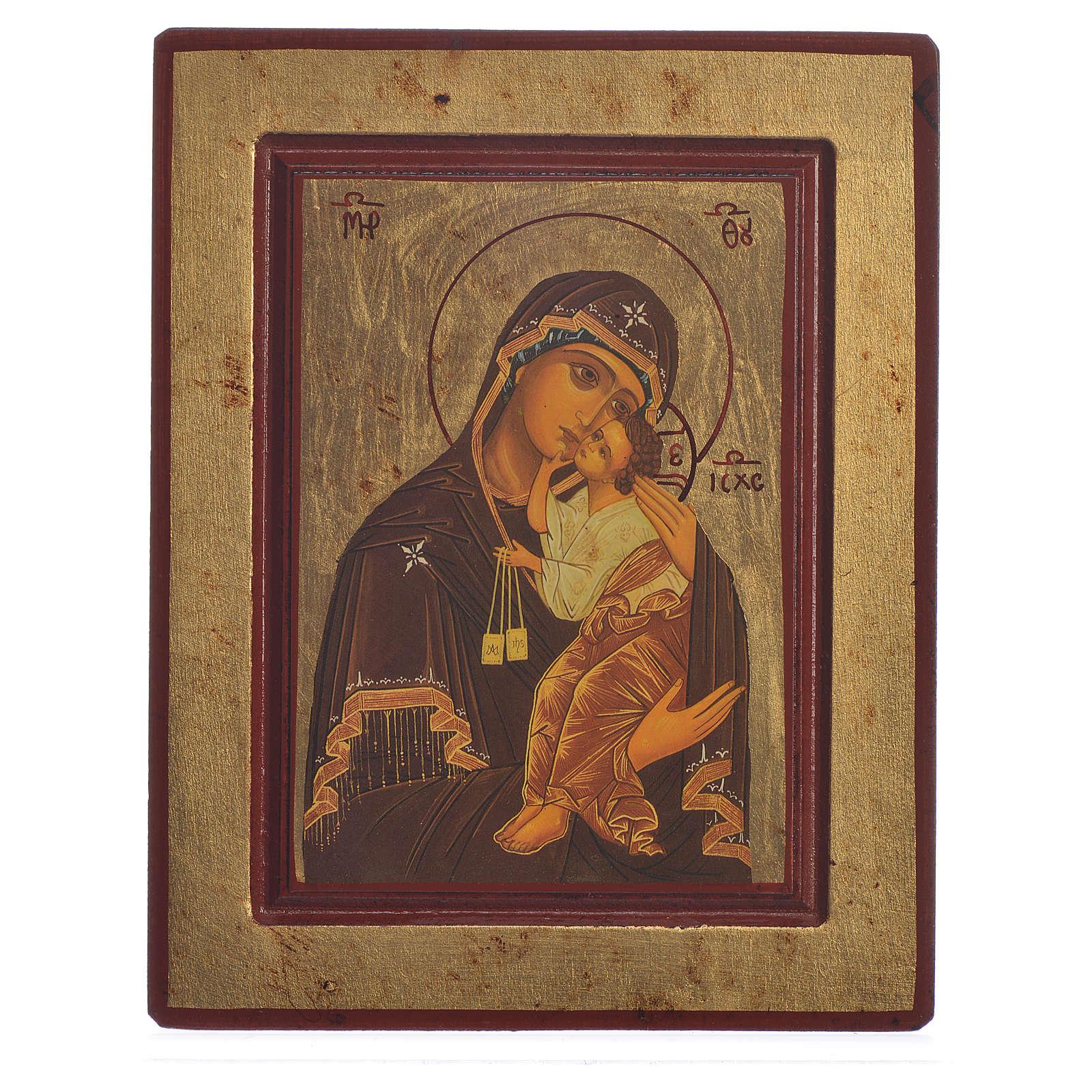 Icona serigrafata Grecia Madonna del Carmine 4