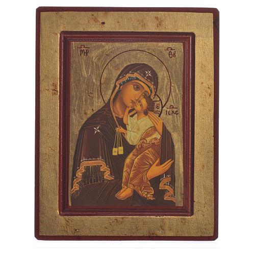 Icona serigrafata Grecia Madonna del Carmine 1