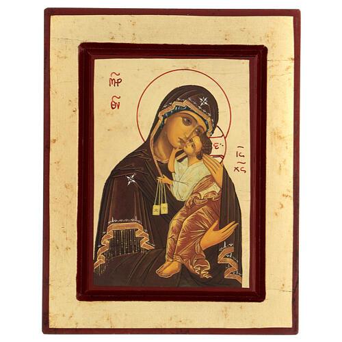Icona Madre di Dio di Vladimir serigrafia 18x20 cm