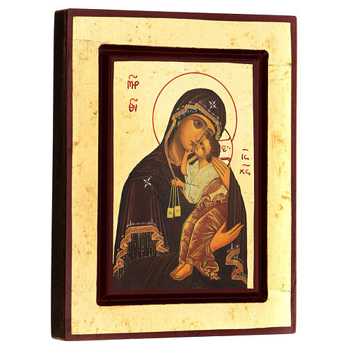 Greek Serigraph icon, Our Lady of Mount Carmel 3