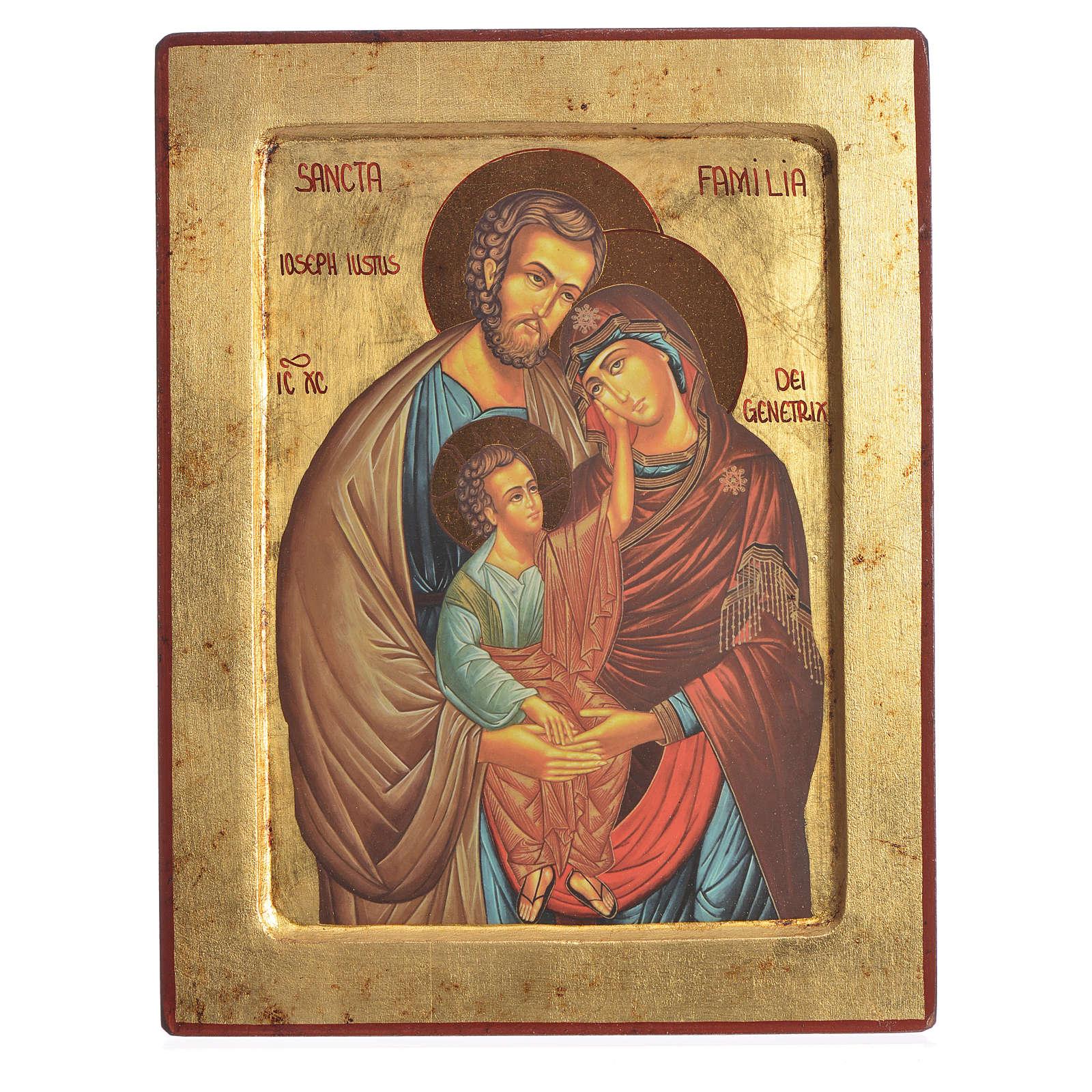 Ikona serigrafowana Święta Rodzina na drewnie 4