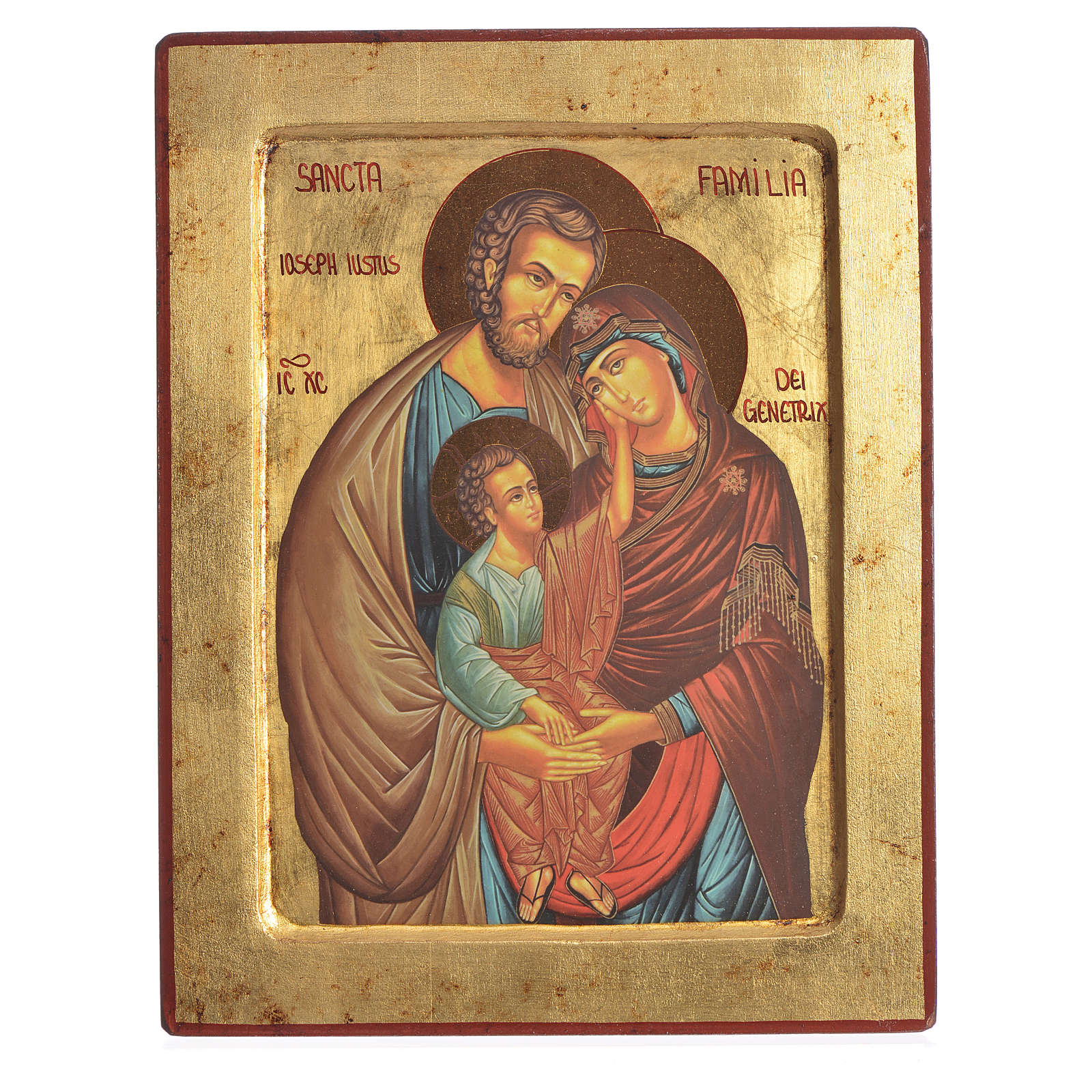 Serigraphy icon, Holy Family printed on wood 4
