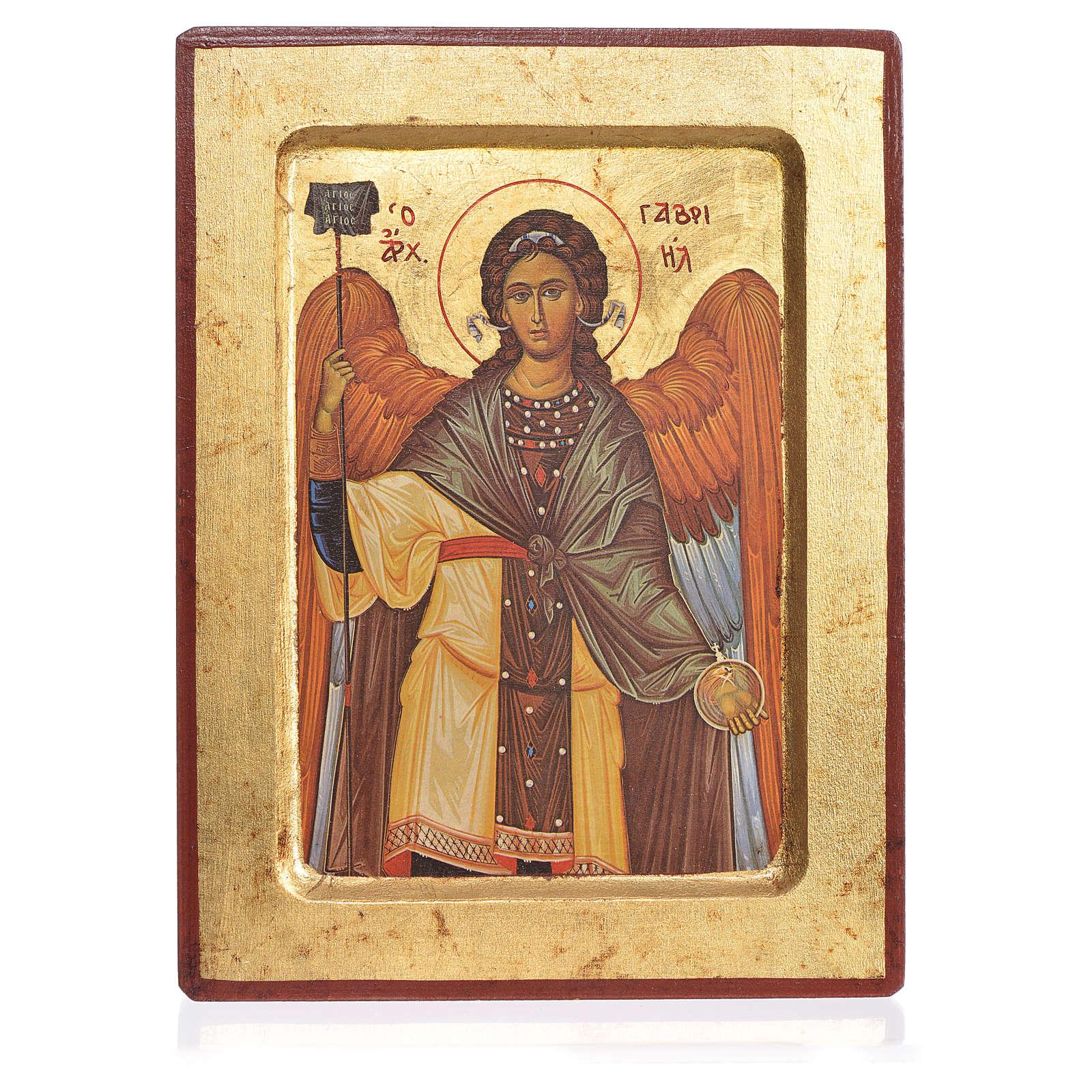Greek Serigraphy icon, Saint Gabriel 4