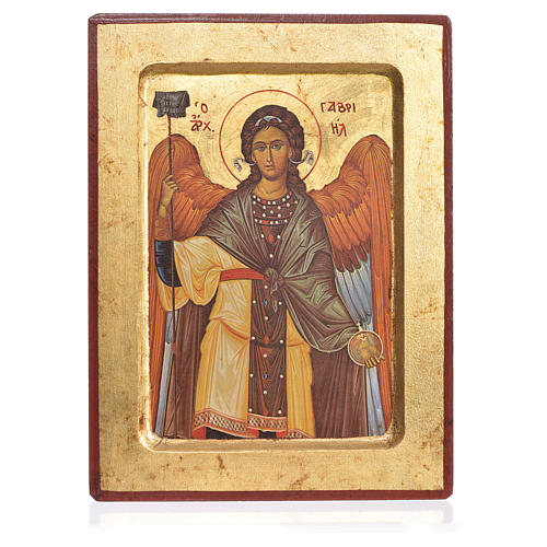 Greek Serigraphy icon, Saint Gabriel 1