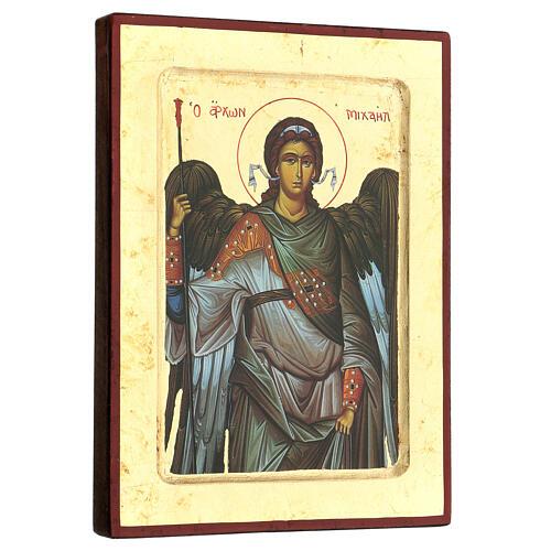 Griechische Siebdruck Ikone Hl. Michael 3