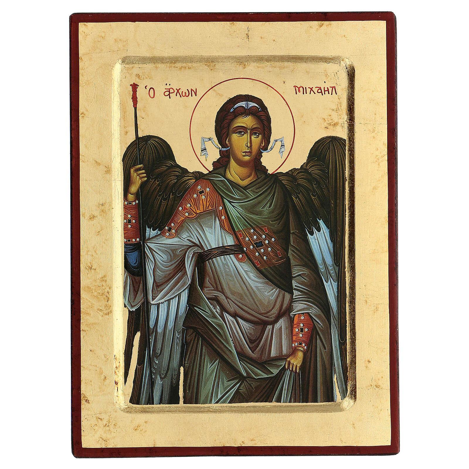 Greek Serigraphy icon, Saint Michael 4