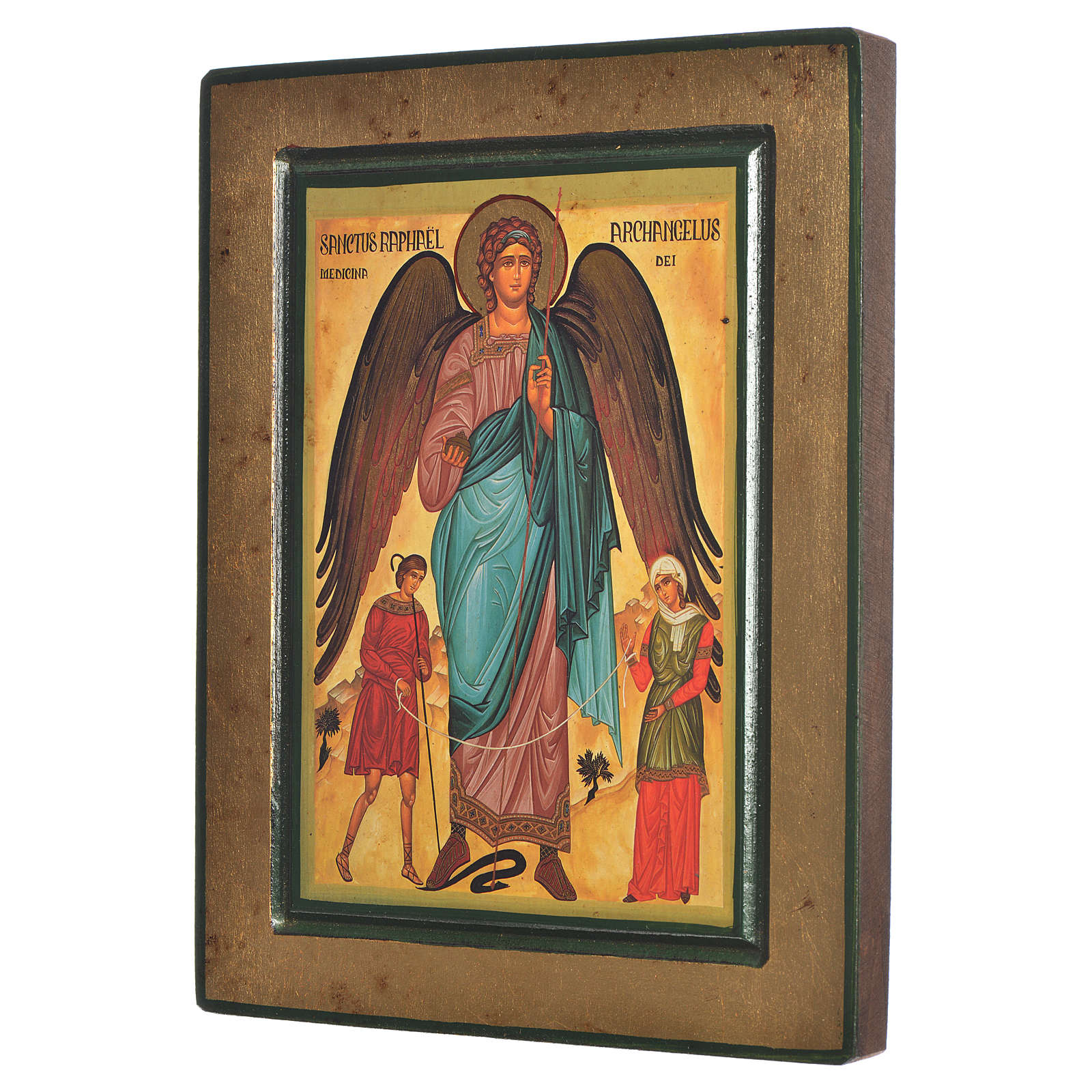 Greek Serigraphy icon, Saint Raphael 4